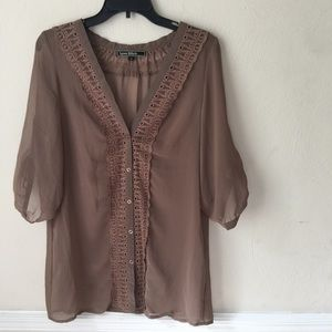 Love Stitch Sheer Blouse